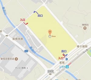 IKEA長久手店(名古屋)駐車場入口と出口
